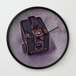 Old Brownie Camera Wall Clock