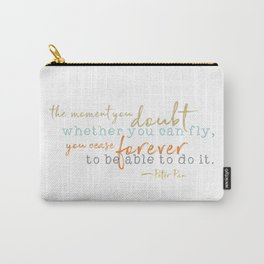 Nostalgic Inspirational Quote Storybook Quote from Peter Pan Carry-All Pouch