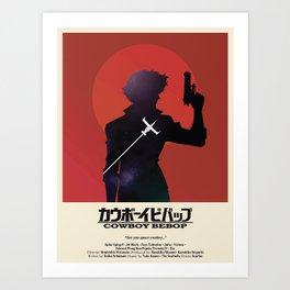 Cowboy Bebop - Space Cowboy Cropped Art Print