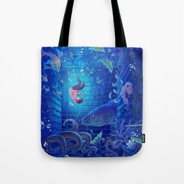 A Sea of Books Tote Bag