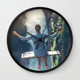 She Believes (Color) Wall Clock