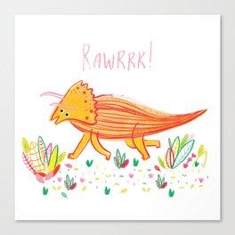 Colourful Dinosaur Canvas Print