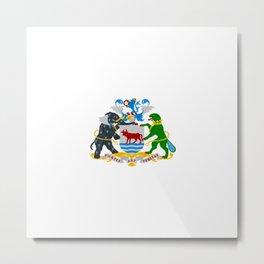 flag of Oxford Metal Print