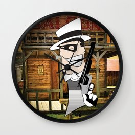 Western Mobster Wall Clock