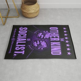 "Vintage ""The Other Kind of Socialist"" Alcoholic Lithograph Advertisement in vivid purple Rug"