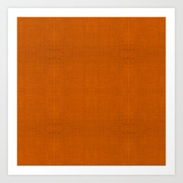 """Orange Burlap Texture (Pattern)"" Art Print"