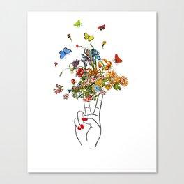 Girl Power - Peace Canvas Print