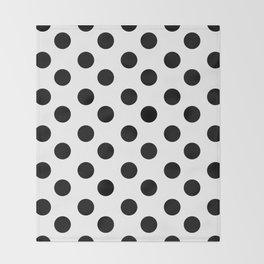Polka Dot (Black & White Pattern) Throw Blanket