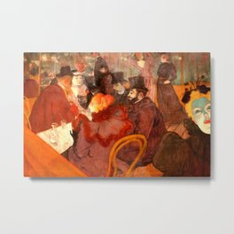 "Henri de Toulouse-Lautrec ""At the Moulins Rouge"" Metal Print"
