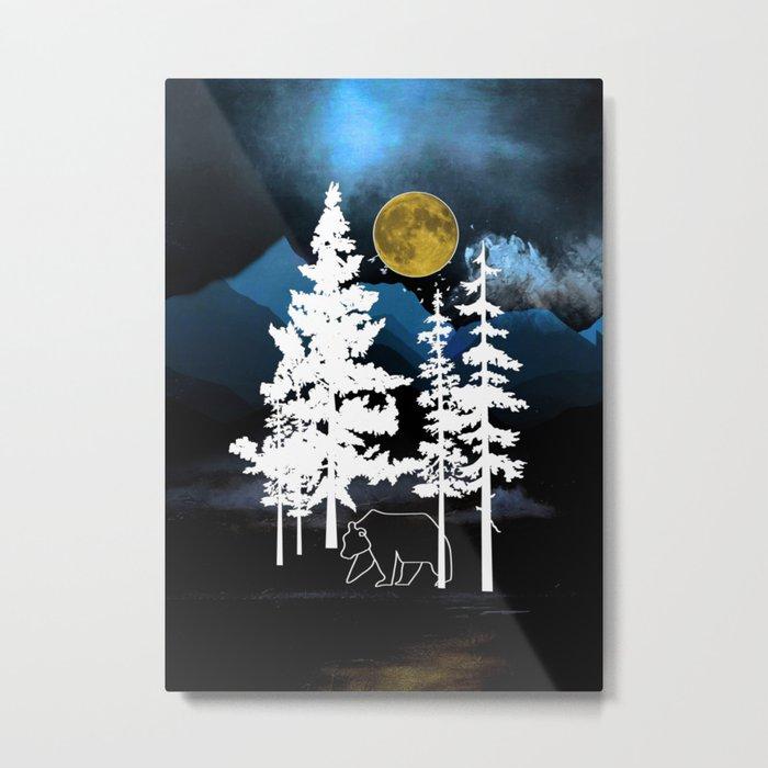 Full Moon Rising II Metal Print