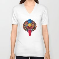 mythology V-neck T-shirts featuring Artificial Mythology by Diligence
