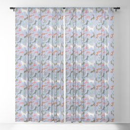 Puppy Playtime Sheer Curtain