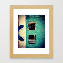 Blue Suede Morning Framed Art Print