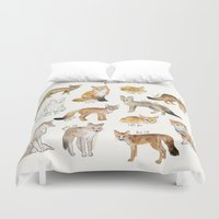 foxes Duvet Covers featuring Foxes by Amy Hamilton