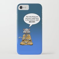buddah iPhone & iPod Cases featuring Buddah Cat by The Big Bad Dream Machine