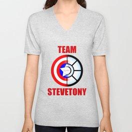 "Team SteveTony - ""Together."" Unisex V-Neck"