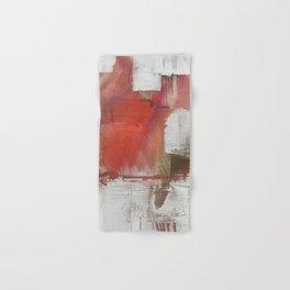 California Sun [2]: a minimal, abstract piece in reds and gold by Alyssa Hamilton Art Hand & Bath Towel