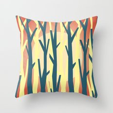 trees against the light 2 Throw Pillow