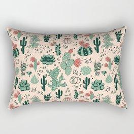 Succulent Desert Rectangular Pillow