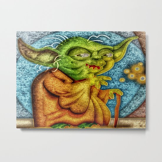Use The Force Metal Print