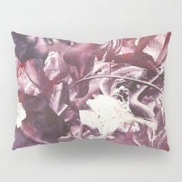 Purple Blooms Monoprint Pillow Sham