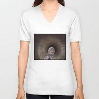 interstellar V-neck T-shirts featuring INTERSTELLAR by zinakorotkova
