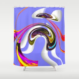 eccentric topology Shower Curtain