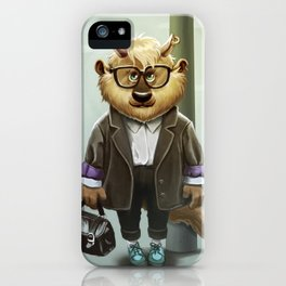 Hipster Monter Girl iPhone Case