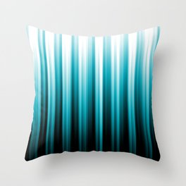 Aqua Blue Black and White Soft Lines Pattern 2021 Color of the Year AI Aqua 098-59-30 Throw Pillow