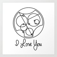I Love you Gallifreyan Doctor Who Art Print