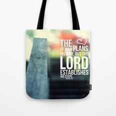 The Lord establishes his steps  Tote Bag