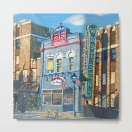 Downtown West Bend Painting Metal Print