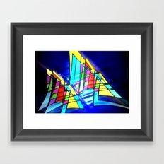 High speed sailing. Framed Art Print