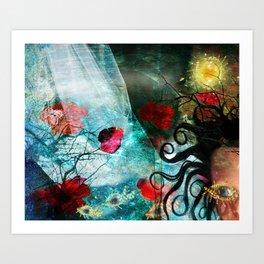 Waterfall dreams Art Print