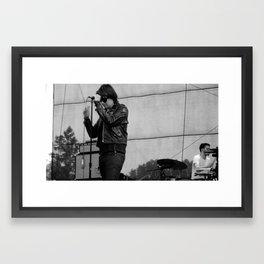 Julian Casablancas - The Strokes at Bonnaroo 2011 Framed Art Print