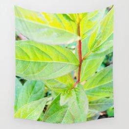 Happy Neon Green Fall Sapling Wall Tapestry