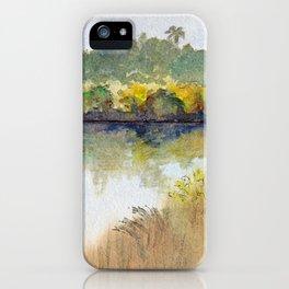 Autumn on the Delta: Houseboat on the Sacramento River, Walnut Creek, California iPhone Case