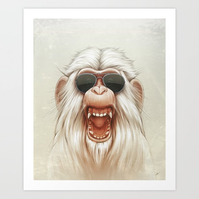 The Great White Angry Monkey Kunstdrucke