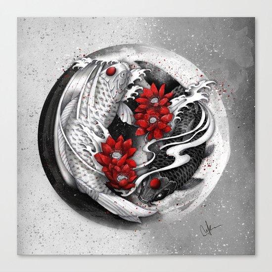 Balance [Yin-yang koi] Canvas Print
