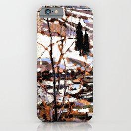 12,000pixel-500dpi - Tom Thomson - Spring Break up - Digital Remastered Edition iPhone Case