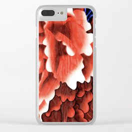 Wet Peonies Clear iPhone Case