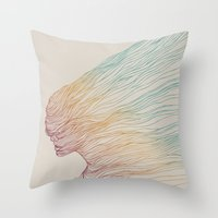 huebucket Throw Pillows featuring FADE by Huebucket