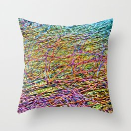 Electric Fence Throw Pillow