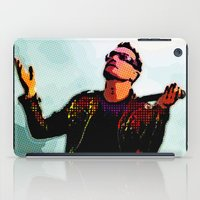 u2 iPad Cases featuring U2 / Bono 2 by JR van Kampen