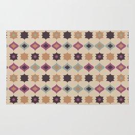 Retro pattern . Pastel . Rug
