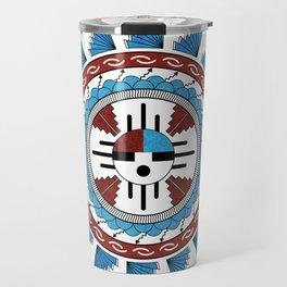 Southwest Native American Art Mandala Travel Mug