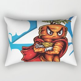 Angry Carrot Star Foodietoon Rectangular Pillow