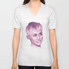 Powder Pink Miley Unisex V-Neck