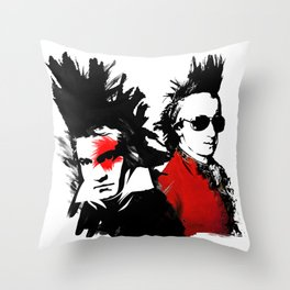 Beethoven Mozart Punk Composers Throw Pillow