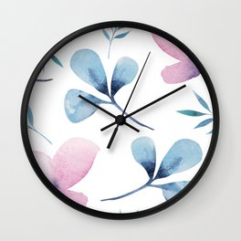 Romantic Watercolor Floral Print Wall Clock